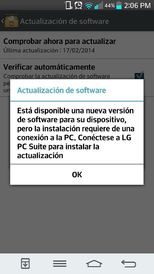 LG G2 de Movistar recibe Android 4.4.2 e incluye Knock ...