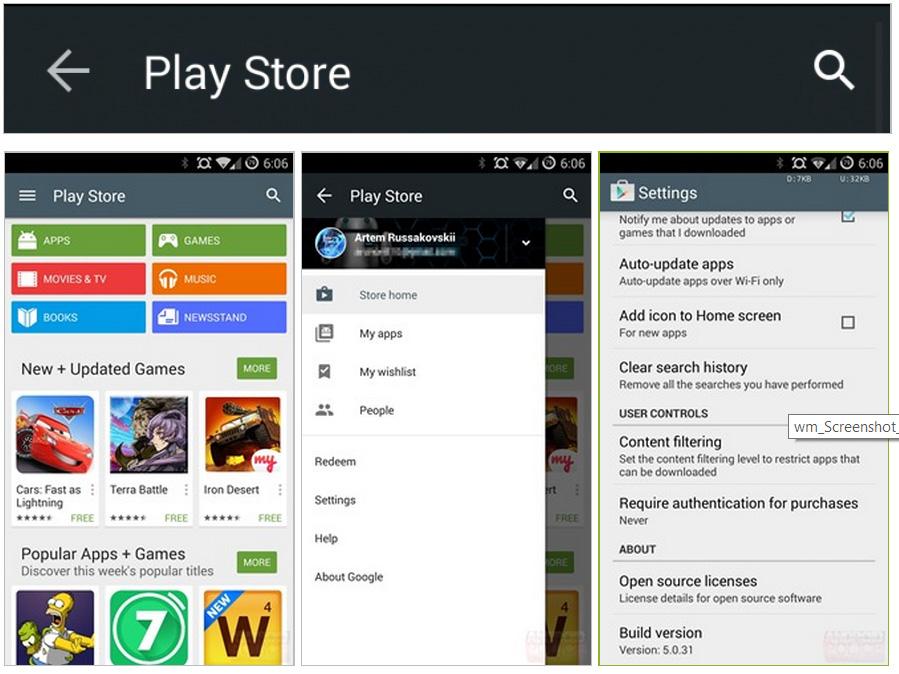 google play store se actualiza a interfaz android l perusmart. Black Bedroom Furniture Sets. Home Design Ideas